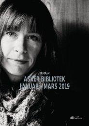 ASKER BIBLIOTEK  PROGRAM JANUAR - MARS 2019