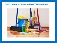 Top 3 Upholstery Cleaning Facts You Must Know