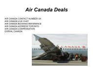 Air Canada Reservation Phone Number
