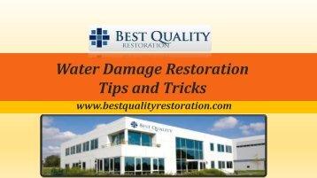 Water Damage Restoration Tips and Tricks