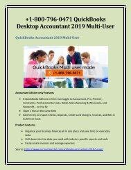 +1-800-796-0471 QuickBooks Desktop Accountant 2019 Multi-User