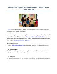 Thinking About Enrolling Your Little Munchkin in Childcare?