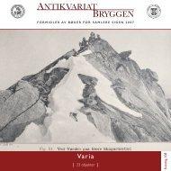 Antikvariat Bryggen - Katalog 108 - Varia