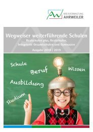 Wegweiser weiterführende Schulen - Ausgabe 2018/2019