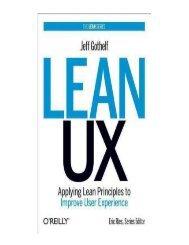 [(Lean UX Applying Lean Principles to Improve User Experienc