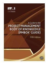A Guide to the Project Management Body of Knowledge PMBOK Gu