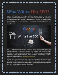 Why White Hat SEO