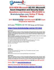 [2019-January-Version]New AZ-101 Dumps PDF 70Q Free Share(Q1-Q11)