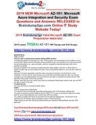 [2019-January-Version]New AZ-101 Dumps with VCE and PDF 70Q Free Share(Q45-Q48)