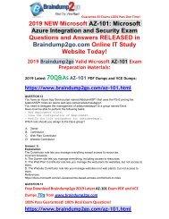 [2019-January-Version]New AZ-101 PDF and AZ-101 VCE 70Q Free Share(Q12-Q22)