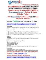 [2019-January-Version]New AZ-101 PDF and VCE Dumps 70Q Free Share(Q34-Q44)