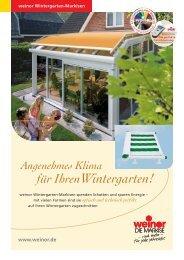 weinor Wintergarten-Markisen - Haller Rolladenbau
