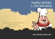 Chinese Kitchen & Dim Sum House MENU