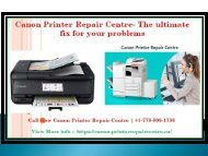 Canon Printer Repair Centre - The ultimate fix for your problems