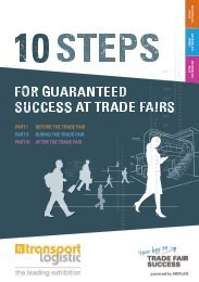 transport logistic // 10 steps for guaranteed success at trade fairs