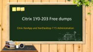 Citrix 1Y0-203 dumps, latest 1Y0-203 study guide