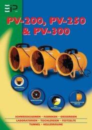 PV200, PV250, PV300