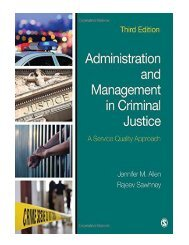 Administration and Management in Criminal Justice A Service