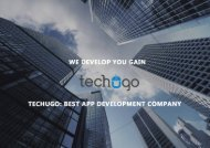 Techugo | Best Mobile App Development Company In Dubai