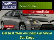 Get best deals on Cheap Car Hire in San Diego