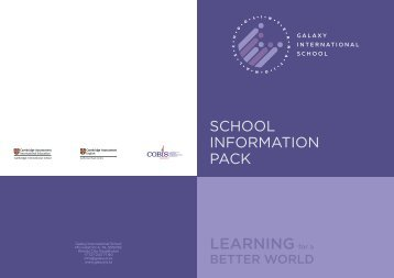 School Information Pack 2018-19 [ENG]