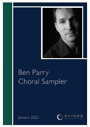 Ben Parry sampler 2019