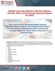 Mobile Learning Software Market Status, Growth Opportunity And Forecast Report till 2022