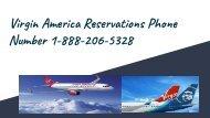 Virgin America Reservations Phone Number 1-888-206-5328