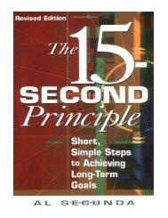 15-Second Principle, The , Revised Edition