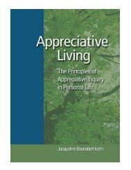 Appreciative Living The Principles of Appreciative Inquiry i