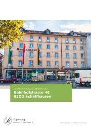 Vermietungsdokumentation  Bahnhofstrasse 46 (Hotel Bahnhof), 8200 Schaffhausen