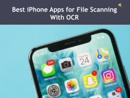 Best iPhone Apps for File Scanning With OCR