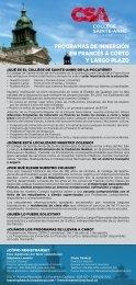 CSA Encartes bleu 2019-2020
