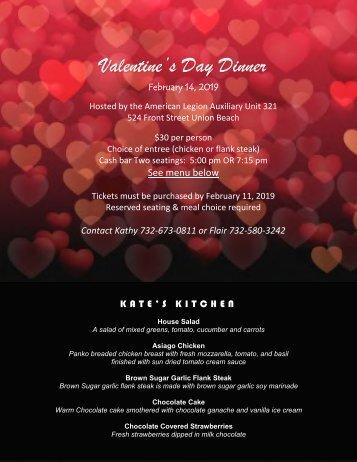 Valentines Day Dinner Flyer 2019
