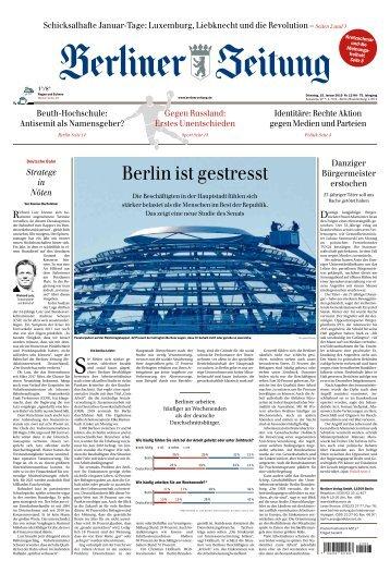 Berliner Zeitung 15.01.2019