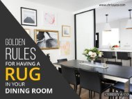 Interior Design Vancouver – Rules for Having a Rug in Dining Room