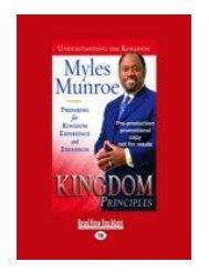 Kingdom Principles Trade Paper Preparing for Kingdom Experie