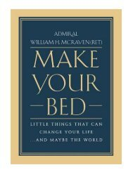 Make Your Bed Little Things That Can Change Your Life...And