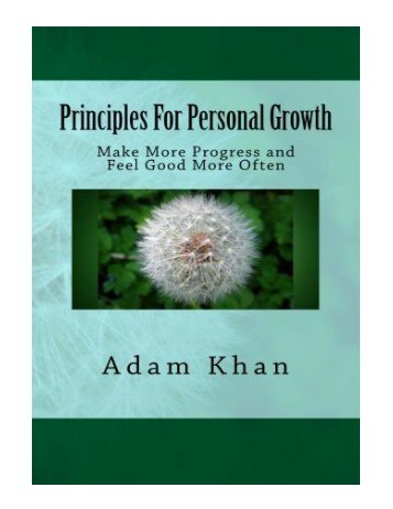 Principles For Personal Growth Make More Progress and Feel G