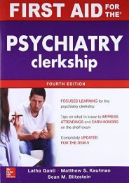 Downlaod First Aid for the Psychiatry Clerkship, Fourth Edition (First Aid Series) [PDF]