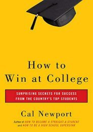 Pdf download How to Win at College: Simple Rules for Success from Star Students  [FULL]