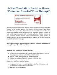 """Is Your Trend Micro Antivirus Shows """"Protection Disabled"""" Error Message?"""