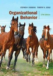 Read Organizational Behavior  [DOWNLOAD]