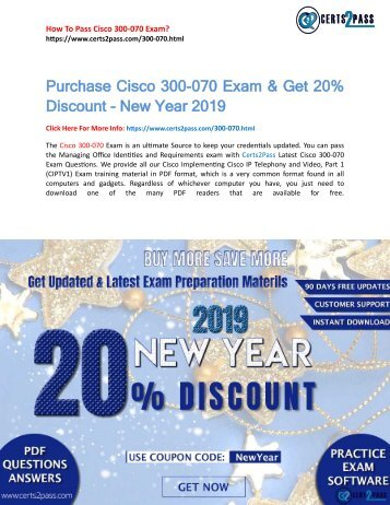 300-070 Practice Exam - 100% Success Guaranteed