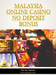 Malaysia Online Casino No Deposit Bonus