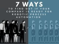 7 Ways to Find Out if Your Company is Ready for Robotic Process Automation (RPA)