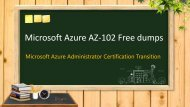 Microsoft Azure AZ-102 exam dumps