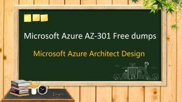 Microsoft Azure AZ-301 exam dumps