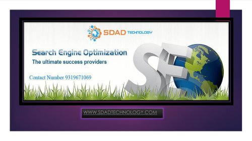 SEO Services 9319671069 in Noida-SDAD Technology