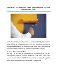 Tips on Selection of the Colour Combinations of Paints